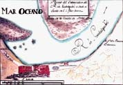 Old location map of La Plancha Pier