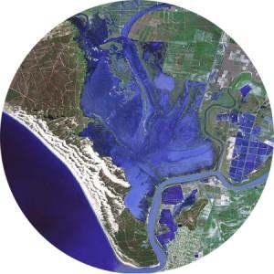 Mapa satelite de Doñana en invierno