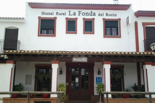 main entrance of La Fonda del Rocío Rural Lodge