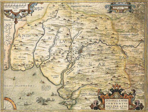 Mapa de Doñana en el siglo XVI