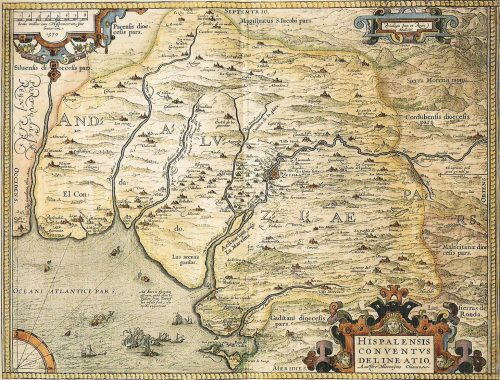 Map of Doñana on XVI century